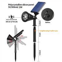 Foto 2 Solar-Strahler 6 LEDs mit Bewegungsmelder und Dauerlicht-Funktion