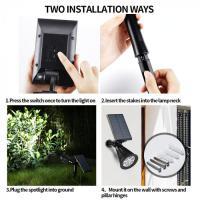 Foto 3 Solar-Strahler 6 LEDs mit Bewegungsmelder und Dauerlicht-Funktion