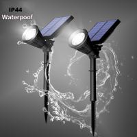 Foto 4 Solar-Strahler 6 LEDs mit Bewegungsmelder und Dauerlicht-Funktion