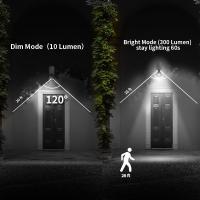 Foto 5 Solar-Strahler 6 LEDs mit Bewegungsmelder und Dauerlicht-Funktion