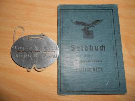 Foto 3 Soldbuch mit Erkennungsmarke zu verkaufen