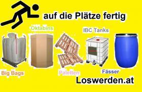 suchen gebrauchte Big Bags, Paletten, Oktabins, Fässer und IBC Tanks
