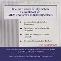 Sonderposten / Vortrags-CD / Robert Pauly / Wie funktioniert Network-Marketing