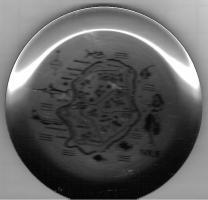 Souvenirteller mit Inselkarte von Niue