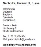 Spanisch, Deutsch als Zweitsprache, Deutsch als Fremdsprache, Schalksmühle, Business-Englisch, Business-Spanisch, Deutsch als Zweitsprache, Deutsch als Fremdsprache, Brenscheid, Business-Englisch, Business-Spanisch, Deutsch als Zweitsprache, Deutsch als F