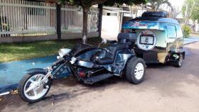 Spezial Chopper mit Wohnwagen