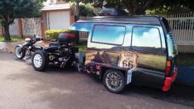 Foto 5 Spezial Chopper mit Wohnwagen