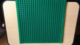 Spielzeug Montage Bauplatte Gummi grün mit 32 x 32 Noppen kompartibel mit Lego