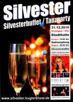 Stadthalle Eislingen - Silvestergala 2010 - Tanzparty Galabuffet - Party Eislingen Partyduo.com