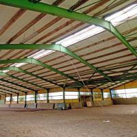 Foto 7 Stahlhalle gebraucht Reithalle arc1680sL [21x60x5/8m] + [21x20x5/8m] Gebrauchthalle abzubauen