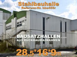 Foto 2 Stahlhalle gebraucht Stahlbauhalle abzubauen remontierbare Gebrauchthalle kaufen demontierbare Halle