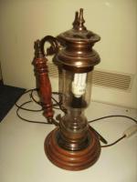 Foto 5 Stehlampe Massiv ALT mit Glas sehr guter Zustand