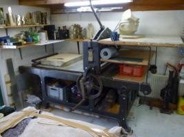 Steindruckpresse