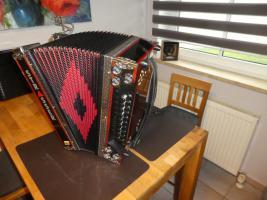 Foto 2 Steirische Harmonika 5-reihig, Strasser de Luxe E, F-B-Es-As-Des, Vollmidi, Funk