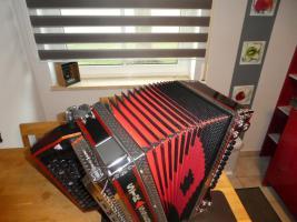Foto 3 Steirische Harmonika 5-reihig, Strasser de Luxe E, F-B-Es-As-Des, Vollmidi, Funk
