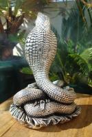 Foto 4 Sterling Silber 999 gestempelt erstaunliche Königskobra Schlange Statue eines Königs
