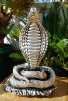 Foto 5 Sterling Silber 999 gestempelt erstaunliche Königskobra Schlange Statue eines Königs