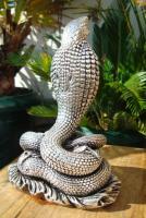 Foto 6 Sterling Silber 999 gestempelt erstaunliche Königskobra Schlange Statue eines Königs
