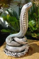 Foto 8 Sterling Silber 999 gestempelt erstaunliche Königskobra Schlange Statue eines Königs
