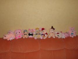 Stofftiere Schweinesammlung mit Miss Piggy Komplettsammlung