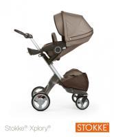 Stokke® Xplory™ V4 komplett mit Babywanne brown