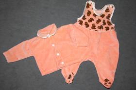 Foto 2 Strampler-Set, 2-teilig, orange mit süßen Bären, Gr: 62