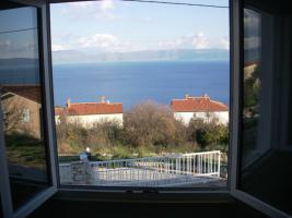 Blick auf das Meer, vom Apartmenthaus Giordana in Ravni
