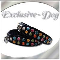 Strasshalsband Chihuahua Prager Rattler XS Dog Collar mini Halsband ''Confetti ''