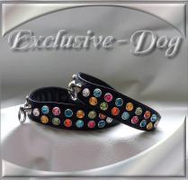 Foto 2 Strasshalsband Chihuahua Prager Rattler XS Dog Collar mini Halsband ''Confetti ''