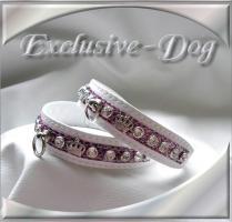 Foto 2 Strasshalsband Leder Strass Halsband Chihuahua mini Lederhalsband EXCLUSIVE-DOG