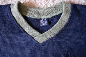 Foto 2 #Strickshirt, Gr. 128, #NEU, #Bondi, #dunkelblau-oliv