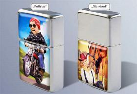 Foto 2 Sturmfeuerzeug-Set mit Ihrem Foto in 3D-Effekt