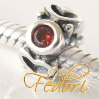 Style Bead Flammendes Herz 925 Sterling Silber, Zirkonia