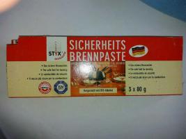 Styx, Sicherheits-Brennpaste, 5 x 80 g