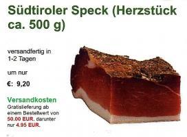 Foto 2 Südtiroler Speck am Stück