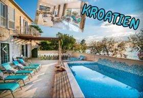 Supetar KROATIEN Ferien Villa mit Pool direkt am Strand