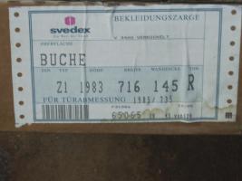Svedex Zimmertür Zarge Buche furniert / lackiert  1983 x 716 x 145