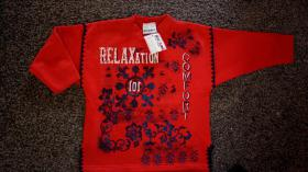Sweatshirt, Gr. 104, #rot-dunkelblau, #NEU, #Dixi-Mixi