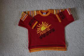 #Sweatshirt, Gr. 110, #NEU, #kirschrot-orange-gelb, #Jacky