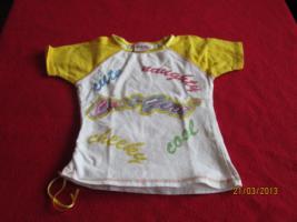 T-Shirt weiß gelb Größe 98