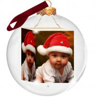 Foto-Weihnachtskugel mit Baby