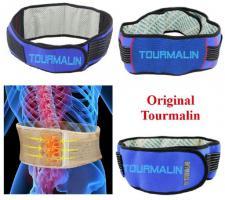 TOURMALIN anti Schmerzen Ruecken Bandage farbe blau