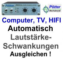 TV , Computer & Radio Lautstärke automatisch anpassen mit Audio Limiter