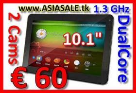 """Tablet PC 10.1"""" DualCore 1.3 GHz 2Cams nur € 60"""