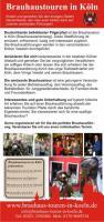 Flyer Brauhaustouren in Köln