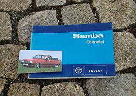 Talbot Samba Cabriolet Betriebsanleitung 1983