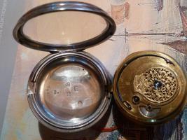 Foto 11 Taschenuhr mit Duplexhemmung Kette und Schnecke England um 1820