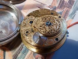 Foto 18 Taschenuhr mit Duplexhemmung Kette und Schnecke England um 1820
