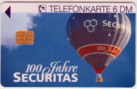 Telefonkarte 100 Jahre Securitas 0 2862 12.94 6000 DTMe