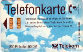Telefonkarte - Telekom - P 12 07.90 500 000 * NEU - UNBENUTZT